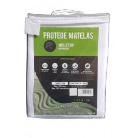 Alèse Imperméable et Molletonnée anti-acariens 100% coton pour matelas épais